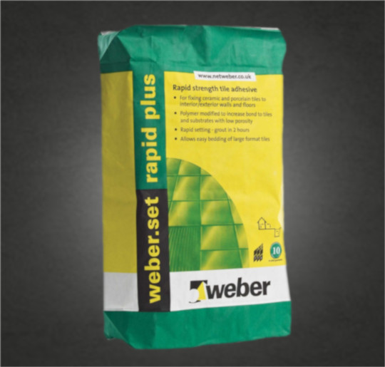 Tile adhesive for low-porosity tiles and substrates For fixing all types of ceramic tiles, including fully vitrified/porcelain tiles