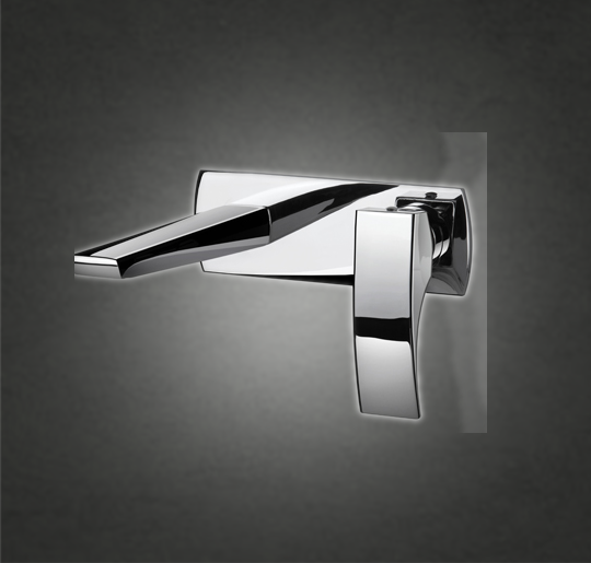 In-Wall basin mixer COLOUR : Polished Chrome