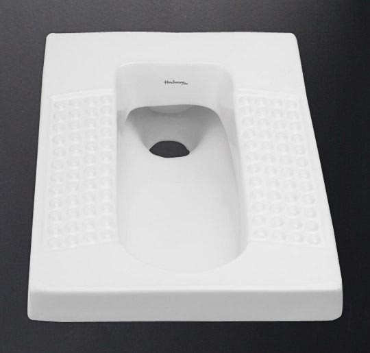 Foot rest design inspired by Acupressure, Water Saving Dual (3/6 ltrs) Flush. Color : Starwhite& Ivory
