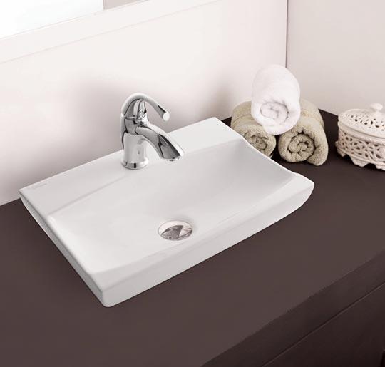 Compact design for small bathrooms. <br />Available in Starwhite