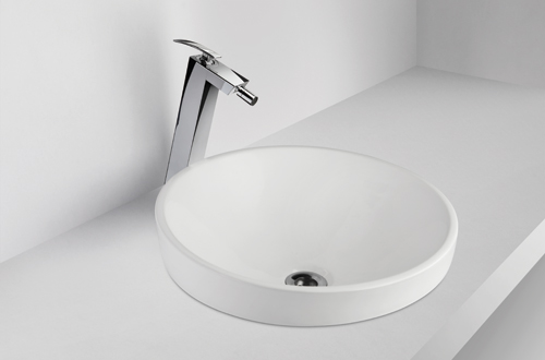 Compact design for small bathrooms.<br />Available in white<br />shape: Round