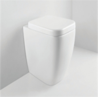 Compact design for bathrooms.<br />Available in white